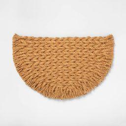 Half Circle Braided Coir Doormat - Hearth & Hand™ with Magnolia   Target