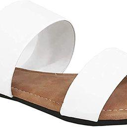 Charles Albert Double Strap Sandals for Women, Comfortable Vegan Flip Flops   Amazon (US)