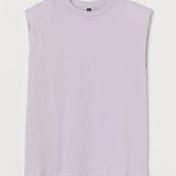 H & M - Shoulder-pad T-shirt - Purple | H&M (UK, IE, MY, IN, SG, PH, TW, HK, KR)