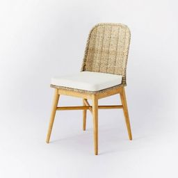Juniper Woven Dining Chair with Cushion Natural - Threshold™ designed with Studio McGee | Target
