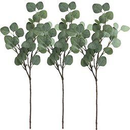 "Supla 3 Pcs Artificial Silver Dollar Eucalyptus Leaf Spray in Green 25.5"" Tall Artificial Greener...   Amazon (US)"
