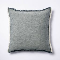 Linen Throw Pillow with Contrast Frayed Edges - Threshold™ designed with Studio McGee | Target