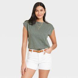 Women's Cap Sleeve Muscle T-Shirt - Universal Thread™   Target