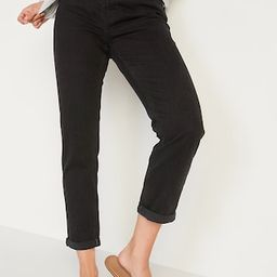 Mid-Rise Boyfriend Straight Black Jeans for Women   Old Navy (US)