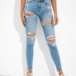 AE Ne(x)t Level Ripped Curvy Super High-Waisted Jegging | American Eagle Outfitters (US & CA)
