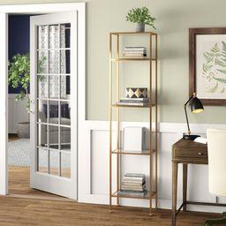 Otha 73'' H x 18'' W Metal And Glass Etagere Bookcase   Wayfair North America