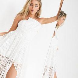 ASOS EDITION broderie one shoulder dress with asymmetric hem | ASOS (Global)