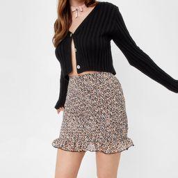 Floral Shirred Ruffle Mini Skirt   NastyGal