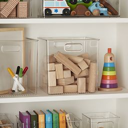 Linus Cube Bins with Handles | The Container Store