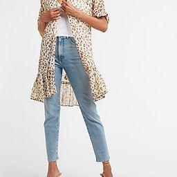 Leopard Ruffle Kimono Cover-Up | Express