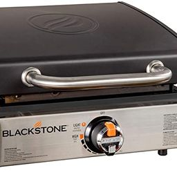 """Blackstone 1814 Tabletop Griddle-17 Inch Propane Gas Hood Portable Flat top 17"""" Griddle-Rear Gr... 