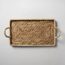 Woven Rectangular Serve Tray with Handles - Hearth & Hand™ with Magnolia | Target