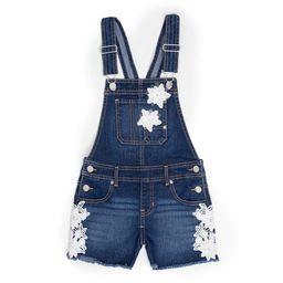 Jordache Fray Hem Overall Shorts (Little Girls & Big Girls) | Walmart (US)
