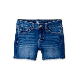 Wonder Nation Girls Distressed Hem Denim Jean Shorts, Sizes 5-18 & Plus | Walmart (US)