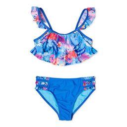 Wonder Nation Girls Flounced Bikini Swimsuit, Sizes 4-16 | Walmart (US)