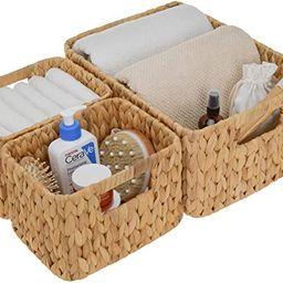 StorageWorks Hand-Woven Storage Baskets, Water Hyacinth Wicker Baskets for Organizing, Set of 3 (...   Amazon (US)
