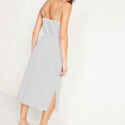 Waist-Defined Striped Slub-Knit Cami Midi Dress for Women   Old Navy (US)