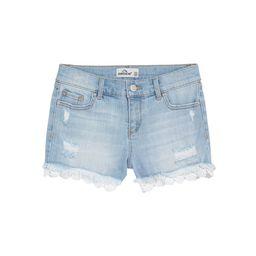Jordache Girls Lace Hem Destructed Denim Shorts, Sizes 4-18 & Plus | Walmart (US)
