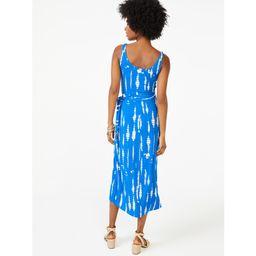 Scoop Women's Printed Sleeveless Midi Wrap Dress   Walmart (US)