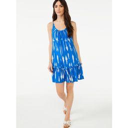 Scoop Women's Sleeveless Cami Ruffle Mini Sundress   Walmart (US)