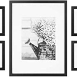 Gallery Perfect 7 Piece Black Photo Kit with Decorative Art Prints & Hanging Template Gallery Wal...   Amazon (US)
