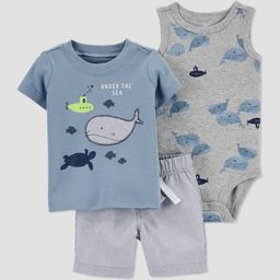 Baby Boys' Whale Top & Bottom Set - Just One You® made by carter's Blue | Target