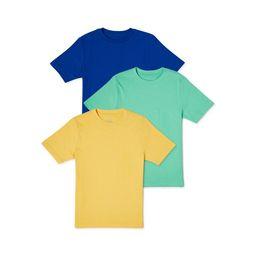 Wonder Nation Boys Solid Crewneck Short Sleeve T-Shirt, 3-Pack, Sizes 4-18 & Husky   Walmart (US)