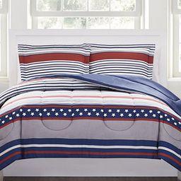 Pem America Stars & Stripes 2-Pc. Reversible Twin Comforter Set, Created for Macy's  & Reviews - ... | Macys (US)