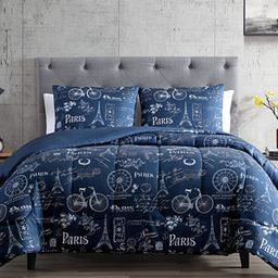 Hallmart Collectibles Paris Minuit 3-Pc. Reversible Full/Queen Comforter Set & Reviews - Comforte... | Macys (US)