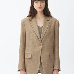 Oversized Linen Blend Blazer | ARKET