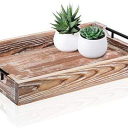 """Large Ottoman Tray with Handles - 16.5""""x12"""" - Coffee Table Tray - Rustic Tray for Ottoman - Woode...   Amazon (US)"""