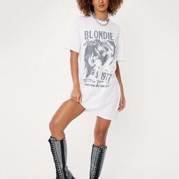 Blondie 1977 Oversized Graphic Band T-Shirt Dress | NastyGal