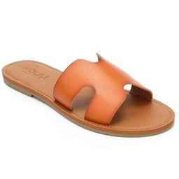 KOLILI Womens Flat Slide Sandals, Summer Fashion Sandals, Comfy Style   Warm-weather Favorite   Amazon (US)