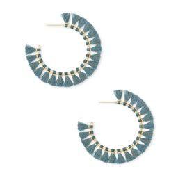 Evie Gold Hoop Earrings in Turquoise   Kendra Scott