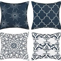 Fascidorm Throw Pillow Covers Modern Decorative Throw Pillow Case Cushion Case for Room Bedroom R...   Amazon (US)