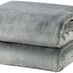 Bedsure Fleece Blanket Throw Size Grey Lightweight Super Soft Cozy Luxury Bed Blanket Microfiber   Amazon (US)