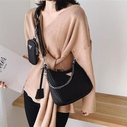 2pcs Retro Shoulder Bag For Women Trendy Vintage Nylon Handbag Female Small Subaxillary Bags Casu... | Etsy (US)