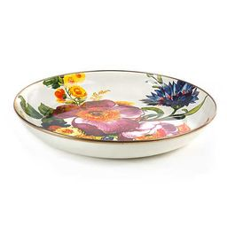 Flower Market Abundant Bowl - White | MacKenzie-Childs