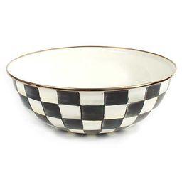 Courtly Check Enamel Everyday Bowl - Extra Large | MacKenzie-Childs