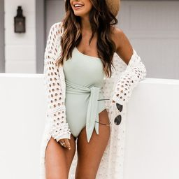 Stare At The Horizon Knit Ivory Cardigan | The Pink Lily Boutique