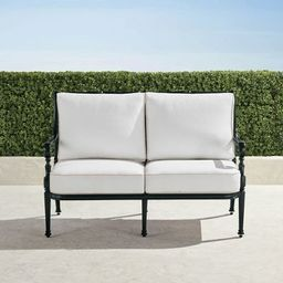 Carlisle Loveseat with Cushions in Onyx Finish   Frontgate   Frontgate