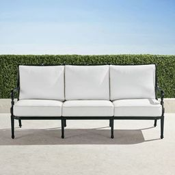 Carlisle Sofa with Cushions in Onyx Finish   Frontgate   Frontgate