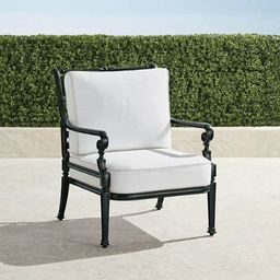 Carlisle Lounge Chair with Cushions in Onyx Finish   Frontgate   Frontgate