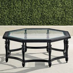 Carlisle Octagon Chat Table in Onyx Finish   Frontgate   Frontgate