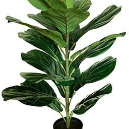 "BESAMENATURE 30"" Little Artificial Fiddle Leaf Fig Tree/Faux Ficus Lyrata for Home Office Decorat...   Amazon (US)"