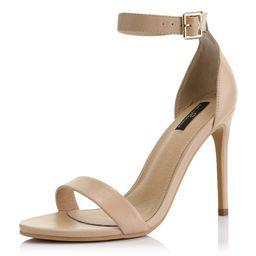 DailyShoes Strap Stiletto Heels High Heeled Sandal Buckle Ankle Open Toe Fashion Summer Thin Bott...   Walmart (US)