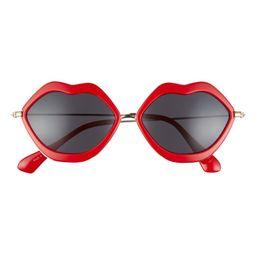 Lip Design Wire Sunglasses | Nordstrom Rack