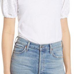 Eyelet Sleeve T-Shirt   Nordstrom