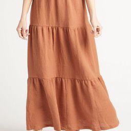 Tiered Gauze Maxi Skirt | Evereve
