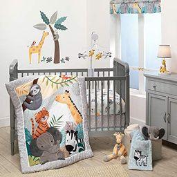 Bedtime Originals Mighty Jungle 3Piece Crib Bedding Set, Multicolor (283003V) | Amazon (US)